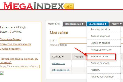 кластеризация-мегаиндекс