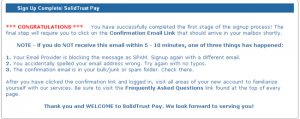 Solidtrustpay подтверждение регистрации