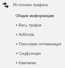 источники трафика гугл