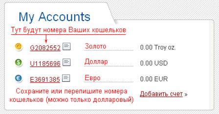perfect money-кошелек